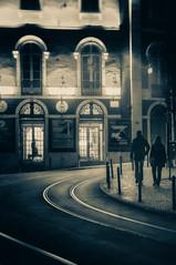 Night walk (João Cruz Santos) Tags: street streetphotography night nightphotography nightstreetphotography urban city blackandwhite bw humanelement nex5r fujian35mmf17 fujian