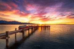 Explosion of Colors (Croosterpix) Tags: sunset colors lake chiemsee bayern bavaria sky clouds nikond610 nikkor1835 nisi