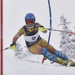 Frances MacDonald (VST/Grouse Tyee) winning U19 National Slalom Championship 2017 PHOTO CREDIT: Derek Trussler