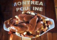 Poutine w/ Spicy Sausage @ Montreal Poutine - Montreal, Quebec (vwcampin) Tags: iphonology iphoneology iphone curds cheese gravy fries frenchfries sausage spicy poutine canada quebec montreal