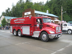 Fire Trucks in Concrete's Parade (Hugo90-) Tags: county rescue truck concrete fire washington parade vehicles skagit emergency kenworth cascadedays