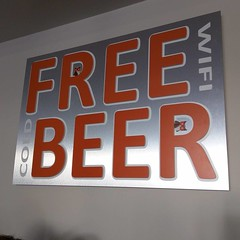 You think it's Free Beer, but it's really Free WiFi cold Beer. :(