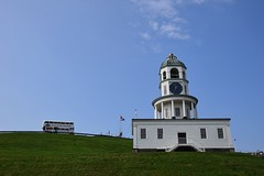 Halifax Town Clock & Bell Tower (hansntareen) Tags: white belltower clocktower halifax doubledecker