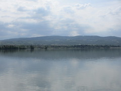 Danube and clouds near Davidovac, Serbia, view from Romania (Paul McClure DC) Tags: river scenery serbia romania balkans danube guravii may2015 davidovac