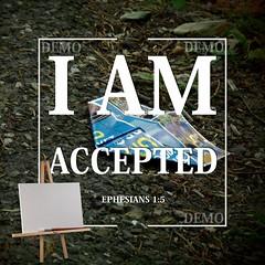 """""""Ik ben geaccepteerd"""" Canvasdoek (Zalving.nl - De Zalfolie Webwinkel) Tags: poster god jesus canvas identity yeshua proclamation doek christelijk christelijke"""