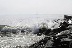 Atlantic City, NJ (lotos_leo) Tags: ocean favorite white water landscape coast rocks yacht outdoor nj shore maritime atlanticcity ola breakwater  rompeolas    allliked