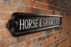 Horse & Groom Lane (EJ Images) Tags: uk england slr sign wall town suffolk alley nikon nef lane roadsign dslr eastanglia beccles 2015 nikonslr d90 horsegroom nikondslr dsc1299 nikond90 becclestown 18105mmlens ejimages