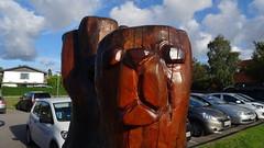 Dog heads carved of an old tree (Bjørn Steiner) Tags: old dog tree carved an heads ramløse