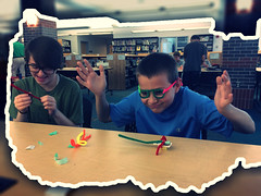 Blowing Our Minds! (diane horvath) Tags: makerspace bristlebots medfieldtech