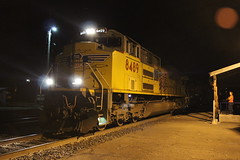 (CaliforniaRailfan101 Photography) Tags: heritage up night nightshot amtrak sp unionpacific nightphoto ge southernpacific manifest coaststarlight emd intermodal martinezca patched sd70m amtk sd70ace es44ac ac4400cw dunsmuirca p42dc cantaraloop ac4460cw shastaroute es44ah patchedsp sd70ah