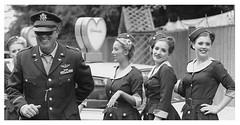 One happy fella (mikeyB1966) Tags: fashion vintage retro motorracing carryon glamcabs goodwoodrevivalfestival2015