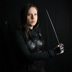 Katniss II (shadamai) Tags: halloween diy costume cosplay bow arrows bodyarmor flickrchallengegroup flickrchallengewinner katniss hungergames katnisseverdeen