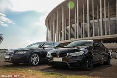 M4 e S6. (ygorbda) Tags: 6 black do ultimate o no os estadio e experience evento bmw f80 audi em nacional foda brasilia m4 vi v10 mane durante s6 dois garrincha cilindros pacaraio