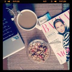 breakfast #yummy #earlymorning #food #coffee #harpersbazaar... (irminastyle) Tags: food coffee breakfast yummy strawberry yeah earlymorning mug press crunchy compaq musli fashionmagazine beforework harpersbazaar uploaded:by=flickstagram instagram:photo=500421196067683937187243118