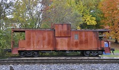 Vine Grove, Kentucky (1 of 4) (Bob McGilvray Jr.) Tags: railroad fall colors train ic paint display kentucky ky tracks caboose primer illinoiscentral vinegrove