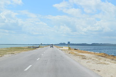 On the causeway between Cayo Coco and Cuba, Jeep and Speed Boat Adventure