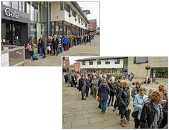 Mass hysteria (bob the bolder) Tags: uk square durham millennium queue lumiere gala 2015