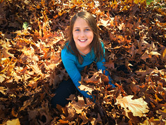 Fall Kate (Hendricks_NY) Tags: family november autumn girls light plants ny newyork fall nature colors leaves smiling sisters outdoors happy us leaf oak day sitting seasons unitedstates hudsonvalley 2015 newwindsor iphone6s