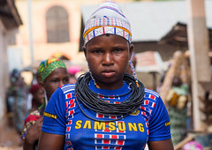 Benin, West Africa, Copargo, a beautiful tattooed fulani peul tribe woman (Eric Lafforgue) Tags: poverty africa girls portrait people woman color girl beauty horizontal tattoo female rural outdoors necklace clothing women colorful pretty muslim islam young culture teenagers tribal tattoos westafrica tribes nomad benin tradition tribe adolescent facial nomads oneperson fulani headwear headandshoulders headgear peul onewomanonly lookingatcamera fula colourimage africanethnicity pastoralists 1people copargo benin4521