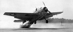 TBM Avenger testing rocket assisted take off (1943)