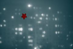 Stars - bokeh test (geb88) Tags: blue red stars lights star bokeh effect blok mga czerwony niebieskie noc hvezda wiata osiedle gwiazdy efekt gwiazda hvezdy