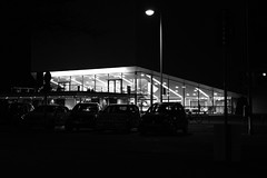 Hannover - NDR (superbart77) Tags: blackandwhite cars city dusk fuji fujifilm hannover ndr night xt2 lamp lantern light monochrome urban
