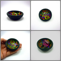 Small trinket bowl No2 (Art Studio Katherine) Tags: nena nevenkasabo acrillapolimerica artstudiokatherine polymerclay polimerskaglina patepolymere fimo fun boje nambi tutorial technique trinket bowl playful