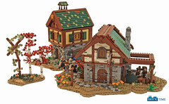 blacksmith's shop & The House of Peer Rumstiek (Sylon-tw) Tags: sylontw sylon castle lego moc froge blacksmith bricktimeteam tudor