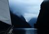 Sanctuary (coollessons2004) Tags: ship sail sailboat sailing doubtfulsound newzealand mountain cove sound ocean sea fog rain