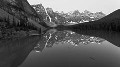 Moraine Monochrome (Ken Krach Photography) Tags: lakemoraine banffnationalpark