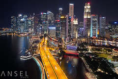 Birds Eye View (draken413o) Tags: singapore cityscapes city night flight aerial dji phantom 4 pro drone skyline skyscrapers long exposure blending asia travel destinations architecture urban places scenes amazing