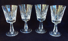 Waterford Crystal Claret Wine Glasses ~ Rosslare (Donna's Collectables) Tags: waterford crystal claret wine glasses ~ rosslare