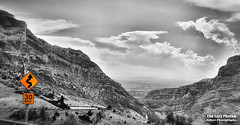 June 29 2016 - The King and I descending Shell Canyon (La_Z_Photog) Tags: lazy photog elliott photography wyoming shell canyon selective color motorcycle ride harley davidson road king flhp 062916shellfallsride