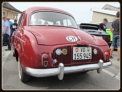 Renault Dauphine, 1960 (v8dub) Tags: renault dauphine 1960 schweiz suisse switzerland fribourg freiburg french pkw voiture car wagen worldcars auto automobile automotive old oldtimer oldcar klassik classic collector