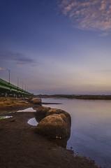 Blue hour.. (Ivon Murugesan) Tags: nature landscape dawn sun sunrise sky bluehour travel places bridge water waterscapes rock outdoor india morning letsexplore myclimateaction flickrtravelaward