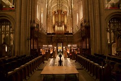 Distant voices in Norwich Cathedral (Rockallpub) Tags: norwich cathedral voice singing pew organ 12800
