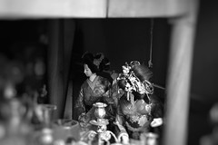 Day 70 : Is for ... The Two Geishas At The Market (Konstantinos Karnaros) Tags: geisha market blackandwhite fleamarket 365