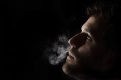 low key smoking (naftone1) Tags: low key shadows cigarette smoking smoke portr portrait