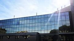 Indra (gdalberto90) Tags: italia italy indra rome roma sede palazzo vetro skyline sky blue glass wotk it business lavoro pausa pause coffe caffe caffè cafè land eur spagna spain consultant