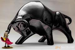Toreo de salon 4 (Paolo Dallorso) Tags: torero matador bull home bullfight flash trial statue miniature corrida