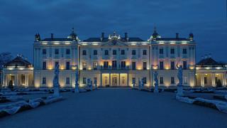 Pałac Branickich o zachodzie