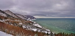 Low Cloud Over Distant Peaks (evanlochem) Tags: cap rouge cape breton highlands national park canada etang nova scotia february snow winter gulf saint lawrence overlook petit coastline seaside maritimes cabot trail