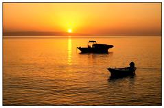 On Golden Pond (stblackburn) Tags: sunrise greece kefalos sillouette boats water sea