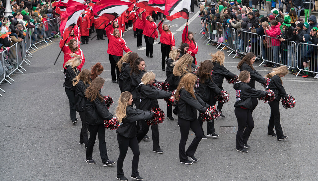 Illinois State University's Big Red Marching Machine [St. Patricks Parade 2017]-125845
