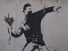 Bansky Street Art - Bethlehem (mulderlis) Tags: israel west bank palestina palestine separation wall muur graffiti street art border grens bansky