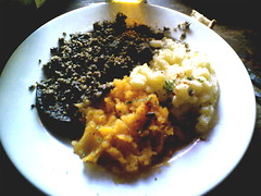 Haggis, nips, and tatties