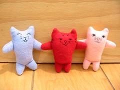 Custom Kitty Order (Rhelynn) Tags: handsewn sewing craft toys stuffies stuffie softie softies handmade knitowl etsy custom order kittens kitties kitty cat cats play playtime baby toddler mommy artist artisan