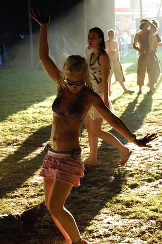 Dancing Teen -- festival music girl dancing garden bikini ballinloughcastle ...