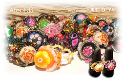 Rings (Iris Mishly) Tags: flower art arcoiris israel beads hand handmade polymerclay fimo cermica plstica rings clay handcrafted jewlery polymer millefiori arcila ceramicaplastica cermicaplastica irismishly   polimerica arcillapolymerica