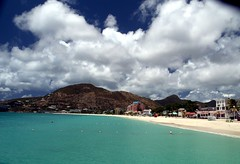 Caribbean Paradise (Videoal) Tags: vacation mountain beach beautiful clouds island bay town explore caribbean stmaarten phillipsburg theonegroup